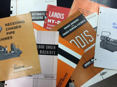 Old Landis Machines Brochures