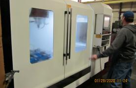Starting a job on our CNC Milling Machine
