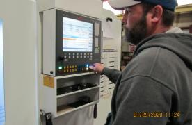Operating our CNC Million Machine